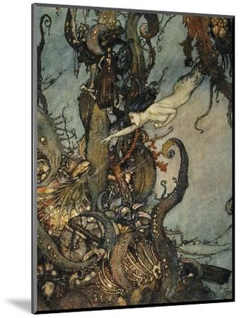 Andersen: Little Mermaid-Edmund Dulac-Mounted Premium Giclee Print