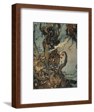 Andersen: Little Mermaid-Edmund Dulac-Framed Premium Giclee Print