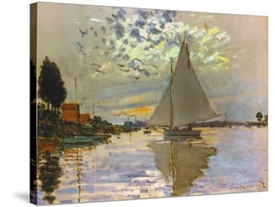 Monet: Sailboat-Claude Monet-Stretched Canvas Print