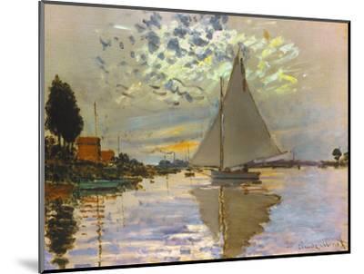Monet: Sailboat-Claude Monet-Mounted Premium Giclee Print