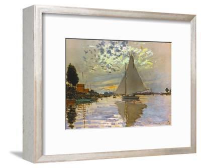 Monet: Sailboat-Claude Monet-Framed Premium Giclee Print