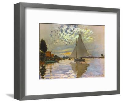 Monet: Sailboat-Claude Monet-Framed Giclee Print