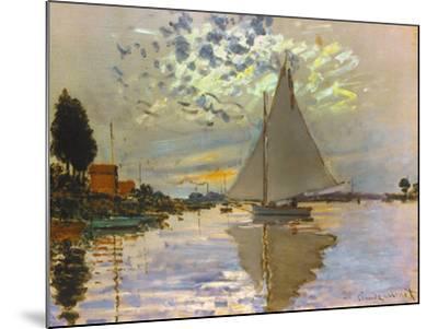 Monet: Sailboat-Claude Monet-Mounted Giclee Print