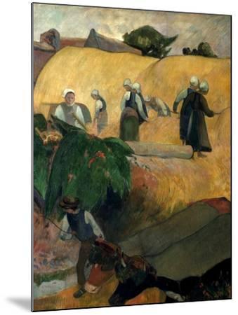 Gauguin: Breton Women-Paul Gauguin-Mounted Giclee Print