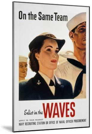 WWII: Waves Poster--Mounted Giclee Print