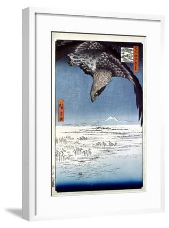 Hiroshige: Edo/Eagle, 1857-Ando Hiroshige-Framed Giclee Print