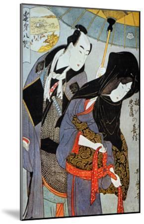 Utamaro: Lovers, 1797-Kitagawa Utamaro-Mounted Giclee Print