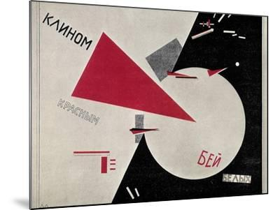Russian Civil War, 1920-Lazar Lisitsky-Mounted Giclee Print