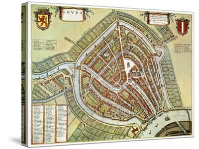 Holland: Gouda Plan, 1649-Jan Blaeu-Stretched Canvas Print