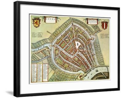 Holland: Gouda Plan, 1649-Jan Blaeu-Framed Giclee Print