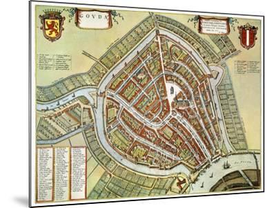 Holland: Gouda Plan, 1649-Jan Blaeu-Mounted Giclee Print
