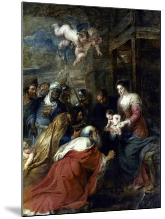 Adoration Of The Magi-Peter Paul Rubens-Mounted Giclee Print