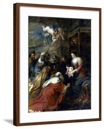 Adoration Of The Magi-Peter Paul Rubens-Framed Giclee Print