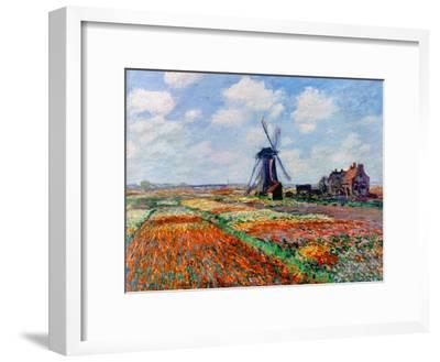 Monet: Tulip Fields, 1886-Claude Monet-Framed Giclee Print