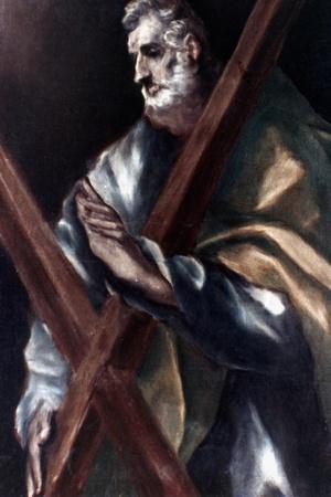 El Greco: St. Andrew-El Greco-Stretched Canvas Print