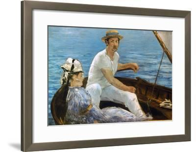Manet: On A Boat, 1874-Edouard Manet-Framed Giclee Print