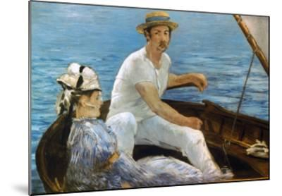 Manet: On A Boat, 1874-Edouard Manet-Mounted Giclee Print