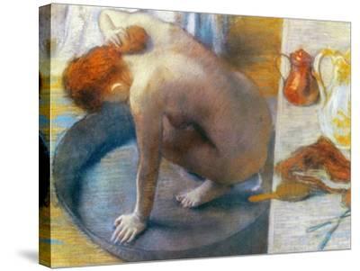 Edgar Degas: The Tub, 1886-Edgar Degas-Stretched Canvas Print