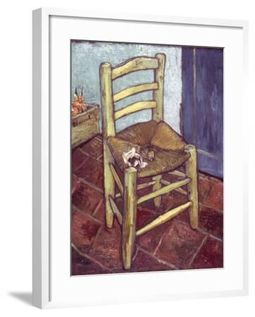 Van Gogh: Chair, 1888-89-Vincent van Gogh-Framed Giclee Print