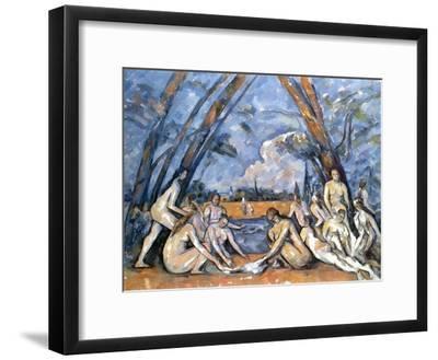 Cezanne: Baigneuses, 1905-Paul C?zanne-Framed Giclee Print