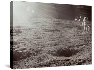 Apollo 12: Astronaut--Stretched Canvas Print