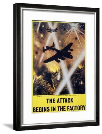 Wwii: English Poster, 1944--Framed Giclee Print