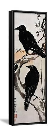 Japanese Print: Crow-Kawanabe Kyosai-Framed Stretched Canvas Print