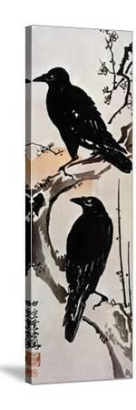Japanese Print: Crow-Kawanabe Kyosai-Stretched Canvas Print