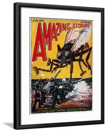 War Of The Worlds, 1927-H.G. Wells-Framed Giclee Print