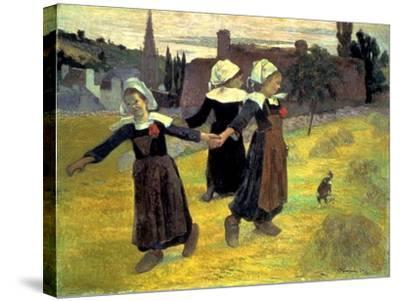 Gauguin: Breton Girls, 1888-Paul Gauguin-Stretched Canvas Print