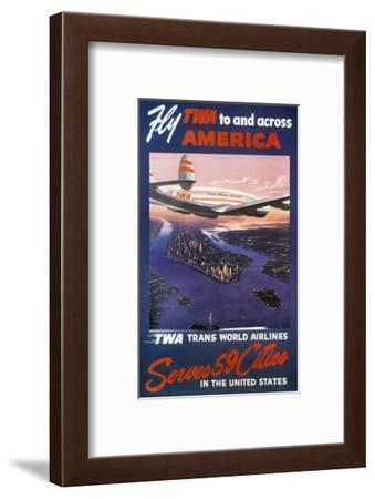 Trans-World Airlines 1950S--Framed Giclee Print