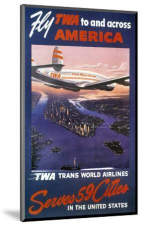 Trans-World Airlines 1950S--Mounted Giclee Print