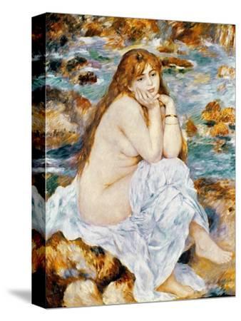 Renoir: Seated Bather, 1885-Pierre-Auguste Renoir-Stretched Canvas Print