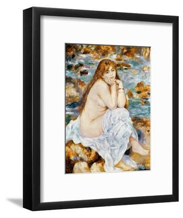 Renoir: Seated Bather, 1885-Pierre-Auguste Renoir-Framed Premium Giclee Print