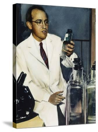 Jonas Salk (1914-1995)--Stretched Canvas Print
