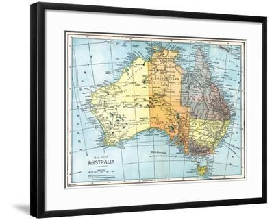 Map: Australia, C1890--Framed Giclee Print