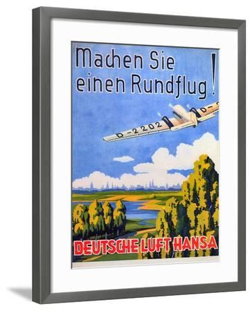 deutsche luft hansa 1930s giclee print by. Black Bedroom Furniture Sets. Home Design Ideas