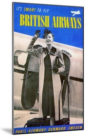 British Airways, 1938--Mounted Giclee Print