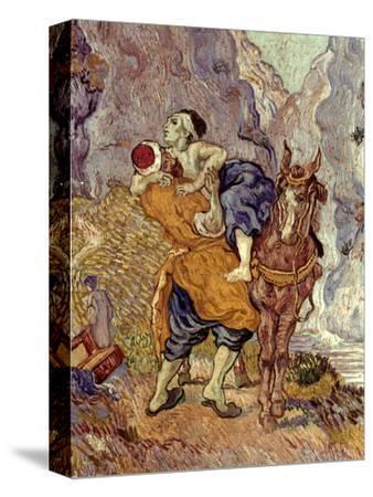 Van Gogh: Samaritan, 1890-Vincent van Gogh-Stretched Canvas Print