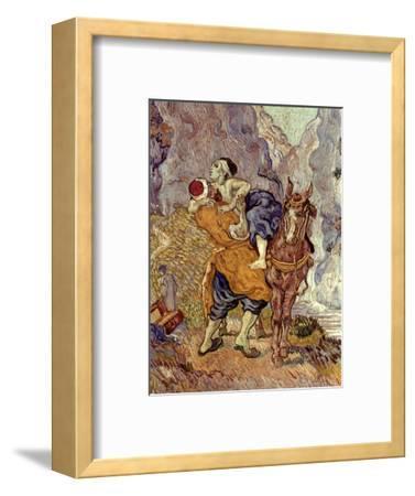 Van Gogh: Samaritan, 1890-Vincent van Gogh-Framed Premium Giclee Print