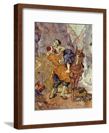 Van Gogh: Samaritan, 1890-Vincent van Gogh-Framed Giclee Print