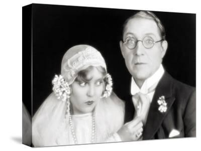 Silent Film Still: Wedding--Stretched Canvas Print