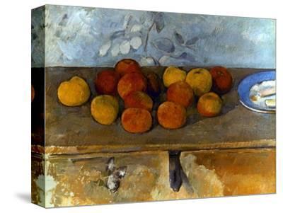 Cezanne: Apples & Biscuits-Paul C?zanne-Stretched Canvas Print
