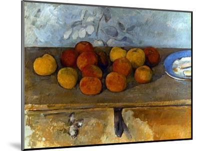 Cezanne: Apples & Biscuits-Paul C?zanne-Mounted Premium Giclee Print