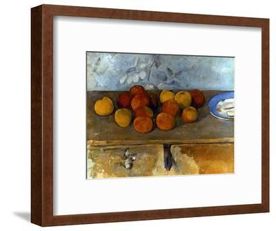 Cezanne: Apples & Biscuits-Paul C?zanne-Framed Premium Giclee Print