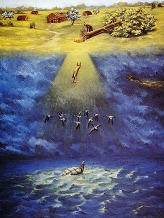 Iroquois Creation Myth-Ernest Smith-Framed Giclee Print