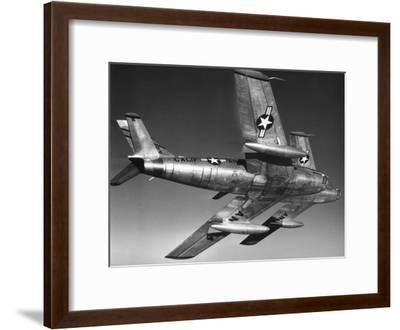 F-86 Jet Fighter Plane--Framed Giclee Print