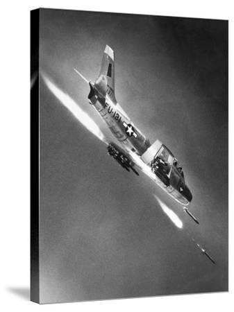 F-86 Jet Fighter Plane--Stretched Canvas Print