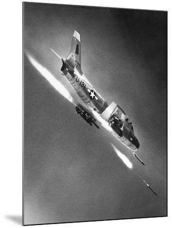 F-86 Jet Fighter Plane--Mounted Giclee Print