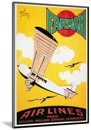 Aviation Poster, 1926--Mounted Premium Giclee Print